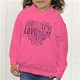 A Heart Full Of Love Personalized Toddler Hooded Sweatshirt - 15300-THS