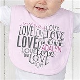 A Heart Full Of Love Personalized Baby Bib - 15300-B
