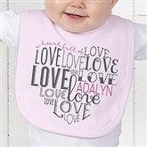 A Heart Full Of Love Personalized Bib - 15300-B