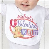Teddy Bear Love Personalized Bib - 15307-B