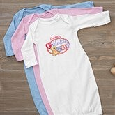 Teddy Bear Love Personalized Baby Gown - 15307-G