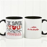 I Love You More Than... Personalized Coffee Mug 11oz.- Black - 15315-B