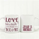 Love Quotes Romantic Personalized Coffee Mug 11oz.- White - 15316-W