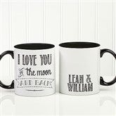 Love Quotes Romantic Personalized Coffee Mug 11oz.- Black - 15316-B