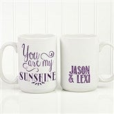 Love Quotes Romantic Personalized Coffee Mug 15oz.- White - 15316-L