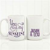 Love Quotes Romantic Personalized Coffee Mug 15oz.- White - 15316-L