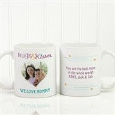 Hugs & Kisses Personalized Photo Coffee Mug 11oz.- White - 15320-S