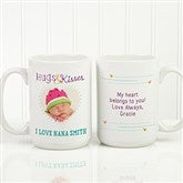 Hugs & Kisses Personalized Photo Coffee Mug 15oz.- White - 15320-L