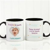 Hugs & Kisses Personalized Photo Coffee Mug 11oz.- Black - 15320-B