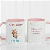 Hugs & Kisses Personalized Photo Coffee Mug 11oz.- Pink - 15320-P