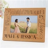 Love Quotes Personalized Picture Frame- 4 x 6 - 15322-S