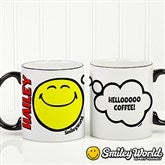 SmileyWorld® Emotion Personalized Black Handle Mug- 11oz. - 15327-B
