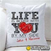 SmileyWorld® Personalized Love Throw Pillow - 15329
