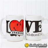 SmileyWorld® Personalized Love Coffee Mug- 15 oz. - 15332-L