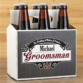 Groomsman Personalized Beer Bottle Carrier - 15338-C