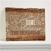 No Place Like Home Personalized Basswood Plank