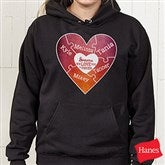 We Love You to Pieces Personalized Black Hooded Sweatshirt - 15365-BHS