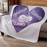 We Love You To Pieces Personalized Sweatshirt Blanket - 15366
