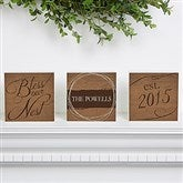 Bless Our Nest Personalized Shelf Blocks- Set of 3 - 15376
