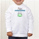 Bunny Love Personalized Toddler Hooded Sweatshirt - 15391-CTHS