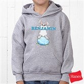 Bunny Love Personalized Youth Hooded Sweatshirt - 15391-YHS