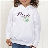 Big/Mid/Lil Sibling Personalized Toddler Hooded Sweatshirt - 15406-CTHS