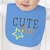 Big/Mid/Lil Sibling Personalized Baby Bib - 15406-B