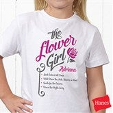 The Flower Girl Personalized Hanes® Youth T-Shirt - 15410-YCT