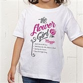 The Flower Girl Personalized Toddler T-Shirt - 15410-TT