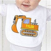 Construction Trucks Personalized Bib - 15412-B