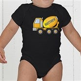 Construction Trucks Personalized Baby Bodysuit - 15412-CBB