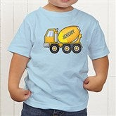 Construction Trucks Personalized Toddler T-Shirt - 15412-TT