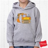 Construction Trucks Personalized Youth Hooded Sweatshirt - 15412-YHS