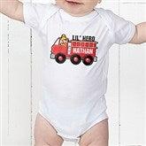 Jr. Firefighter Personalized Baby Bodysuit - 15413-CBB