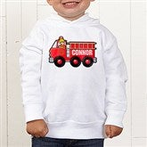 Jr. Firefighter Personalized Toddler Hooded Sweatshirt - 15413-CTHS