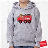 Jr. Firefighter Personalized Youth Hooded Sweatshirt - 15413-YHS