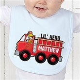 Jr. Firefighter Personalized Baby Bib - 15413-B