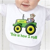 Tractor Time Personalized Bib - 15414-B