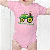 Tractor Time Personalized Baby Bodysuit - 15414-CBB