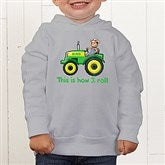 Tractor Time Personalized Toddler Hooded Sweatshirt - 15414-CTHS