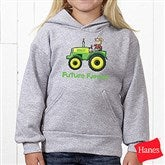 Tractor Time Personalized Youth Hooded Sweatshirt - 15414-YHS