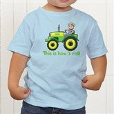 Tractor Time Personalized Toddler T-Shirt - 15414-TT