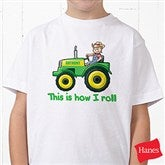 Tractor Time Personalized Hanes® Youth T-Shirt - 15414-YCT