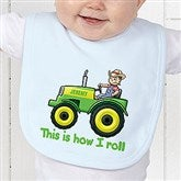 Tractor Time Personalized Baby Bib - 15414-B