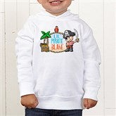 Lil' Pirate Personalized Toddler Hooded Sweatshirt - 15415-CTHS