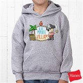 Lil' Pirate Personalized Youth Hooded Sweatshirt - 15415-YHS