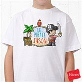 Lil' Pirate Personalized Hanes® Youth T-Shirt - 15415-YCT