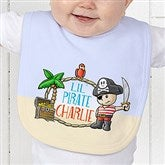 Lil' Pirate Personalized Baby Bib - 15415-B