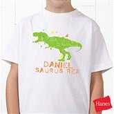 Dinosaur Personalized Hanes® Youth T-Shirt - 15416-YCT