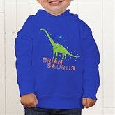 Dinosaur Personalized Toddler Hooded Sweatshirt - 15416-CTHS